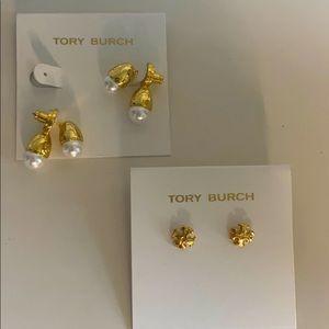 Beautiful Tory Burch pearl earrings